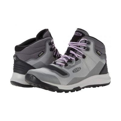 Keen キーン レディース 女性用 シューズ 靴 ブーツ ハイキング トレッキング Tempo Flex Mid WP - Steel Grey/African Violet