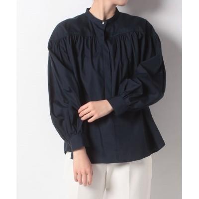 【アン レクレ】 バンドカラーシャツ レディース ネイビー 2 en recre