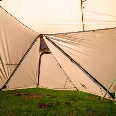 オガワ ツインピルツフォークL用二又フレーム 3047 キャンプ テント : シルバー Ogawa