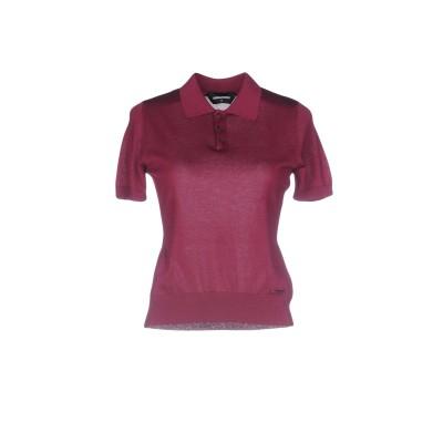 ディースクエアード DSQUARED2 ポロシャツ ガーネット S コットン 50% / シルク 50% ポロシャツ