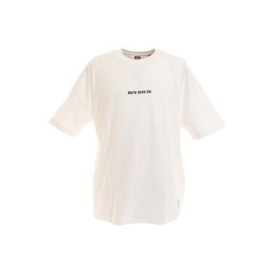 ベンデイビス(BEN DAVIS) バックプリント ビッグシルエット フットボール 半袖Tシャツ 0580020-WHT (メンズ、レディース)