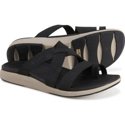 メレル Merrell レディース サンダル・ミュール シューズ・靴 kalari lore wrap sandals - leather Black