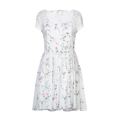 MAISON ESPIN ミニワンピース&ドレス ホワイト S ポリエステル 100% / ナイロン ミニワンピース&ドレス