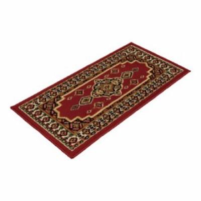 エジプト製ウィルトン織ペルシャン柄 ロングマット レッド(A) (536/50100RD) 単品