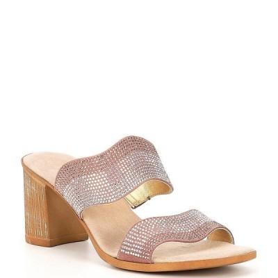 オネックス レディース サンダル シューズ Perla Embellished Leather Slide Sandals Blush