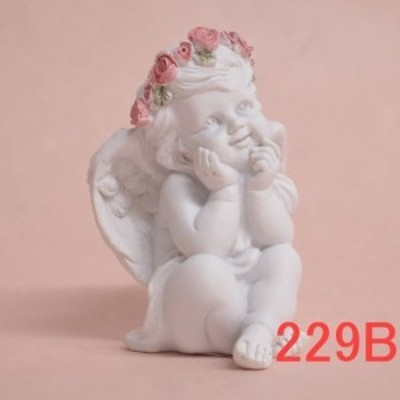 ローズエンゼルオブジェ 4種類天使 置物薔薇雑貨QSC-229B