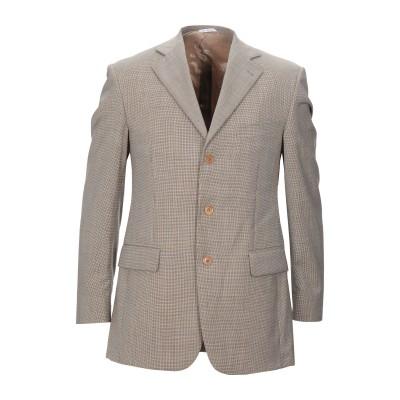 DUCA VISCONTI DI MODRONE テーラードジャケット サンド 48 バージンウール 100% テーラードジャケット