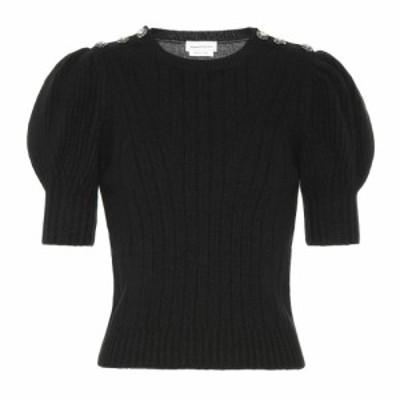 アレキサンダー マックイーン Alexander McQueen レディース ニット・セーター トップス Crystal-embellished wool sweater Black/Grey M
