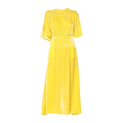 アティコ THE ATTICO ロングワンピース&ドレス イエロー 40 レーヨン 82% / シルク 18% ロングワンピース&ドレス