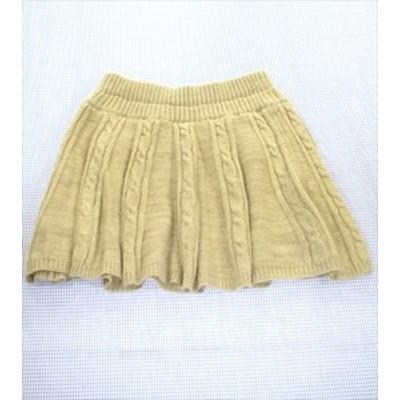 イーストボーイ EAST BOY スカート ニット サイズ 9 160cm ベージュ系 ボトムス 無地 ジュニア レディース 女の子 子供服 中古