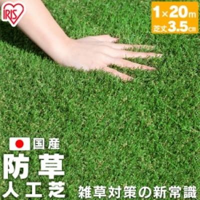 防草人工芝 芝丈3.5cm BP-35120 1m×20m アイリスオーヤマ 送料無料