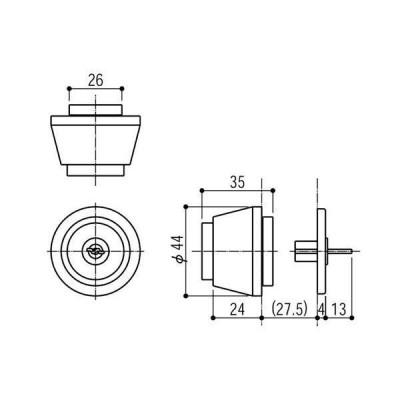 YKKAP住宅部品 交換用シリンダー(HH-4K-11654)