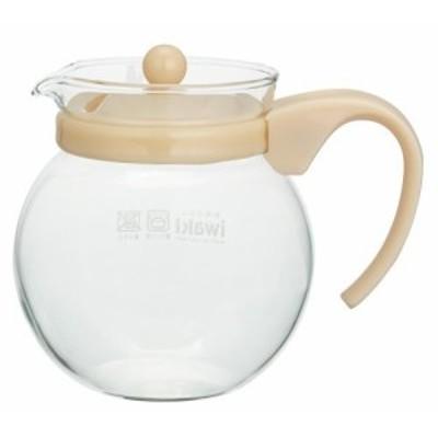 iwaki(イワキ) 耐熱ガラス ティーポット ジャンピングティーポット ベージュ 640ml KT894-BE