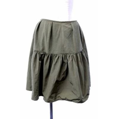 【中古】チェスティ Chesty スカート フレア ひざ丈 1 緑 グリーン /AY64 レディース