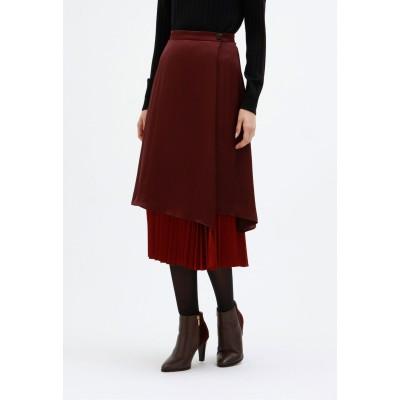 LOVELESS リバーシブル サテン プリーツ スカート