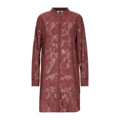 OTTOD'AME ミニワンピース&ドレス ブラウン 40 コットン 100% ミニワンピース&ドレス