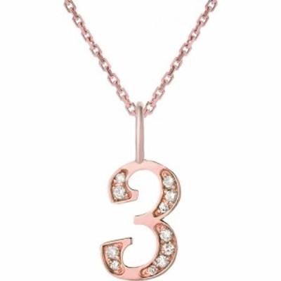 ミニミニジュエルズ MINI MINI JEWELS レディース ネックレス ジュエリー・アクセサリー Diamond Number Pendant Necklace Rose Gold