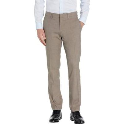 ケネス コール Kenneth Cole Reaction メンズ スラックス Stretch Heather Herringbone Slim Fit Flat Front Flex Waistband Dress Pants Oatmeal