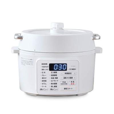 アイリスオーヤマ 電気圧力鍋 2.2L 2WAYタイプ グリル鍋 6種類自動メニュー 65メニュー掲載レシピブック付き ホワ