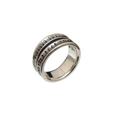 [3日以内に発送] PUERTA DEL SOL(プエルタデルソル)R1002 タトゥ フォント VIVA DA VILA ダブル リング 指輪【シルバー950】
