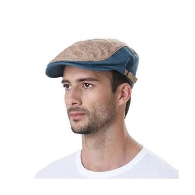 WITHMOONS キャスケットハンチング帽 Two Tone Block Summer Newsboy Hat Flat Cap AC3046 (Beige)【並行輸入品】
