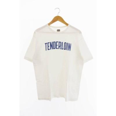 【中古】テンダーロイン TENDERLOIN LOGO T-shirt ロゴ Tシャツ M 白 ホワイト ブランド古着ベクトル 中古20623 0012 メンズ