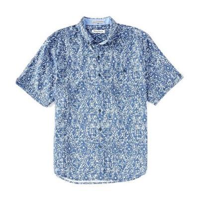 トッミーバハマ メンズ シャツ トップス Oasis Ikat Short-Sleeve Woven Shirt