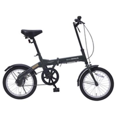 マイパラス 折りたたみ自転車 16インチ(グリーン) MYPALLAS M-100-GR 【返品種別B】