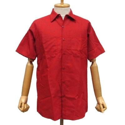 RED KAP PLAIN SHORT SLEEVED WORKSHIRT - RED / RED KAP レッドキャップ ワークシャツ プレーン 無地 重ね着