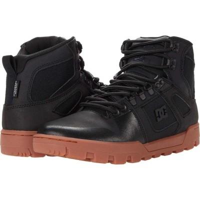 ディーシー DC メンズ ブーツ ハイカット シューズ・靴 Pure High-Top WR Boot Black/Gum 1