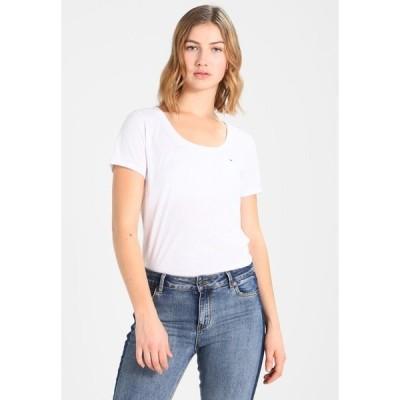 トミーヒルフィガー Tシャツ レディース トップス Print T-shirt - classic white