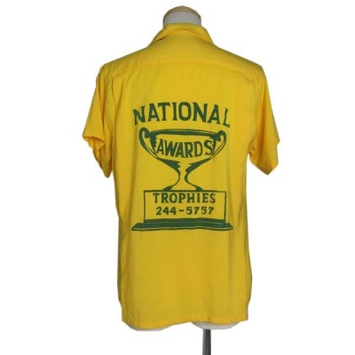 60's ヴィンテージ レーヨン ボウリングシャツ  SHORTY Bowlaway メンズS 古着