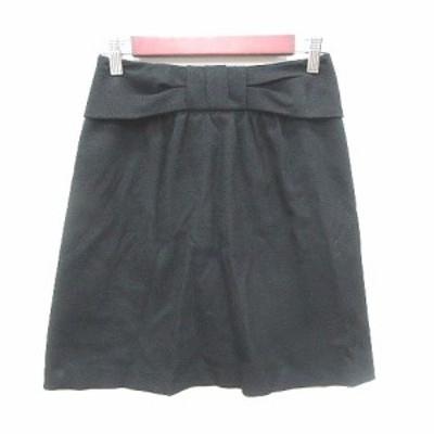【中古】ナチュラルビューティーベーシック NATURAL BEAUTY BASIC 台形スカート ミニ S 黒 ブラック /YK レディース