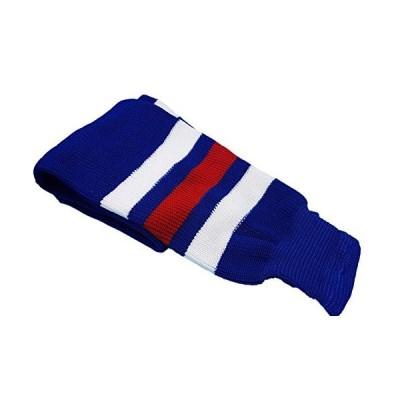 "Hockey Socks Knit Made in Canada for Hockey Players (Intermediate 28"", 11 Royal Blue w/White)"
