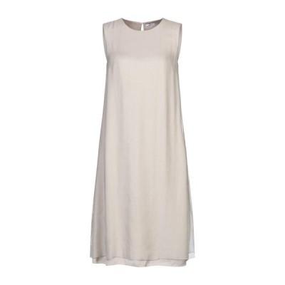 PESERICO シルクドレス ファッション  レディースファッション  ドレス、ブライダル  パーティドレス グレー