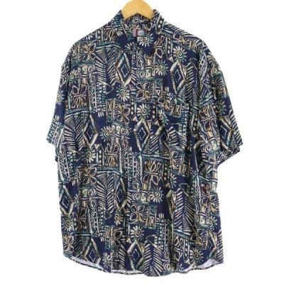 CHIAMARE レーヨン ハワイアンアロハシャツ メンズM /eaa055285