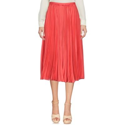 ロシャス ROCHAS 7分丈スカート レッド 40 67% コットン 33% ポリウレタン 7分丈スカート