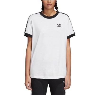 アディダス オリジナルス レディース Tシャツ adidas Originals 3 STRIPES T-Shirt 半袖 White/Black