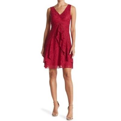 テイラー レディース ワンピース トップス A-Line Ruffle Skirt Lace Dress ORCHID
