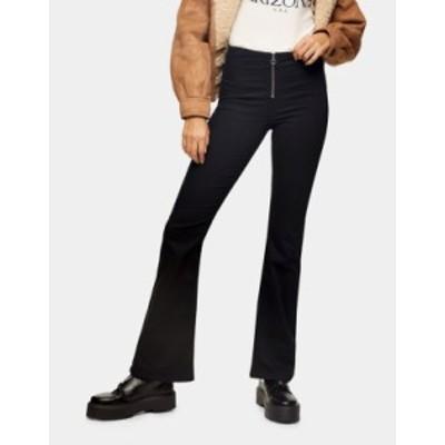 トップショップ レディース デニムパンツ ボトムス Topshop Bootcut Jeans in Black Black