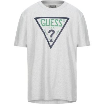 ゲス GUESS メンズ Tシャツ トップス t-shirt Light grey