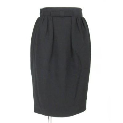 フォクシー  FOXEY 黒 リボン付 スカート 38