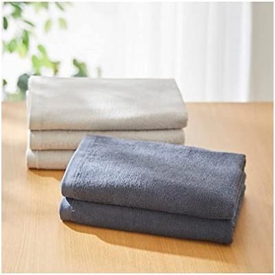 [nissen(ニッセン)] バスタオル 5枚 セット 超薄手 薄手 綿100% 乾きやすい 無地
