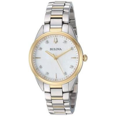 ブローバ Bulova 女性用 腕時計 レディース ウォッチ ホワイト 98P184