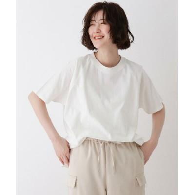 SHOO・LA・RUE/シューラルー SUPIMAコットン ラグランゆるTシャツ オフホワイト(003) 03(L)