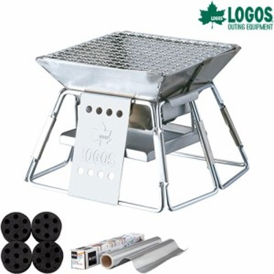 ロゴス(LOGOS) ピラミッドグリル・コンパクト ミニラウンドストーブ 4+BBQお掃除楽ちんシート 極厚付きセット R14AF093