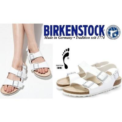 BIRKENSTCK ビルケンシュトック 靴  ビルケン  MILANOミラノ 034733 細幅 白ホワイト サンダル ナロータイプ