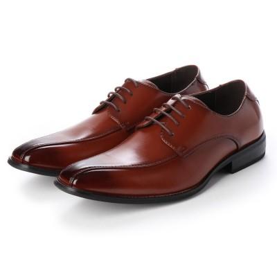 トウキョウブラザー TOKYO BROTHER メンズ ビジネスシューズ 紳士靴 ドレスシューズ 防滑 スワローモカ 外羽根 (ブラウン)