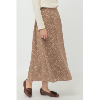 【エルビーシーウィズライフ/Lbc with Life】 ランダムドットプリントスカート