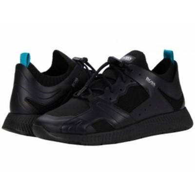 BOSS Hugo Boss ボス メンズ 男性用 シューズ 靴 スニーカー 運動靴 Titanium Runn Sneakers Black【送料無料】